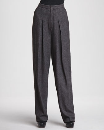 Piere Inverted-Pleat Pants