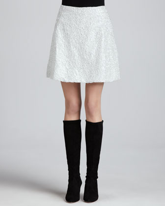 Seedo Beaded A-Line Skirt