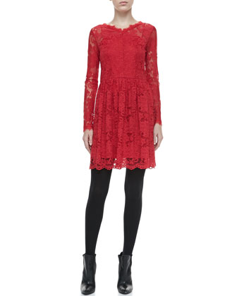 Lalita Long-Sleeve Lace Dress