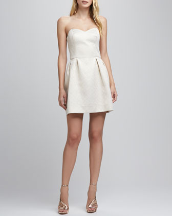 Geneva Strapless Brocade Dress