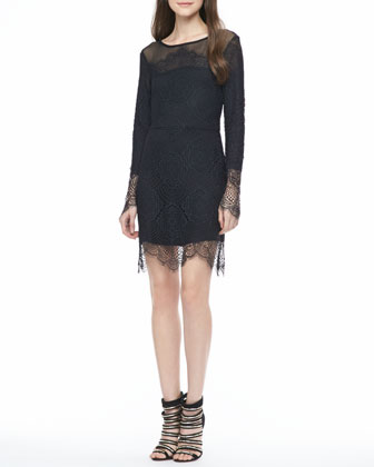 Grace Lace-Overlay Mini Dress