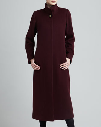 Long Wool Golden-Button Coat