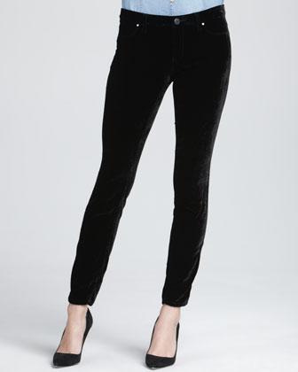 Skinny Velvet Ankle Jeans
