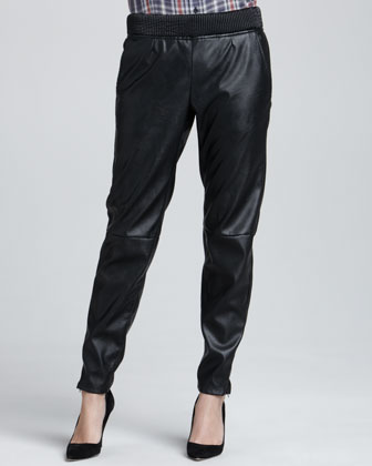 Relaxed Faux-Leather Pants