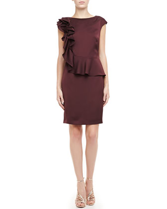 Poielle Ruffle-Shoulder Dress