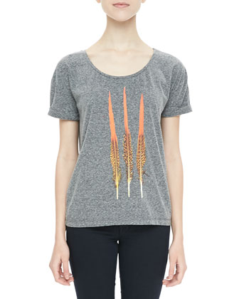 Short-Sleeve Feather Tee
