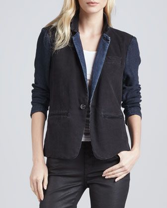 The Co-Ed Denim Blazer