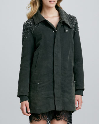 Stud-Shoulder Cargo Jacket