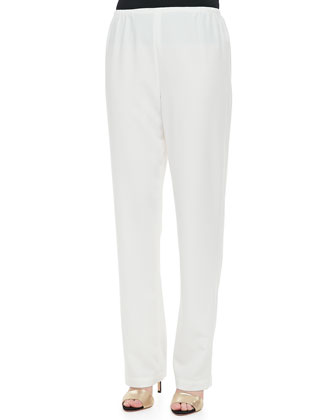 Crepe Straight Leg Pants, Women's