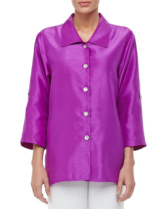 Shantung Tab Shirt, Petite