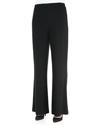 Stretch Knit Wide Pants, Women's