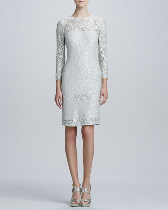 Lace-Tiered Cocktail Dress