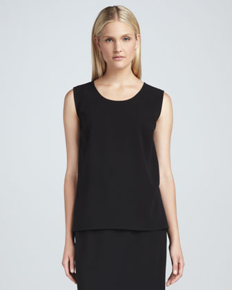 Stretch-Crepe Long Tank, Women's