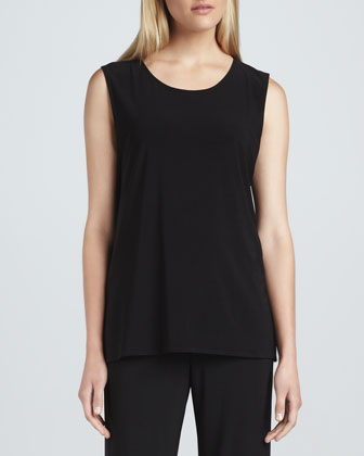 Stretch-Knit Long Tank