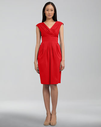 Stretch-Cotton Banded Dress