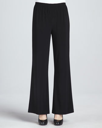 Wide-Leg Stretch Pants