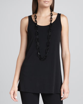Washable Wavy Wool Lace Top & Silk Jersey Long Camisole