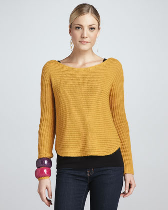Alpaca/Silk Sweater Top, Petite