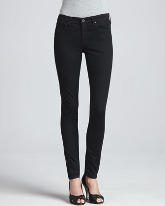 The Middi Mid-Rise Leggings, Raven