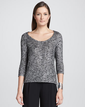 Lightweight Shimmer Karma Knit Top, Women's