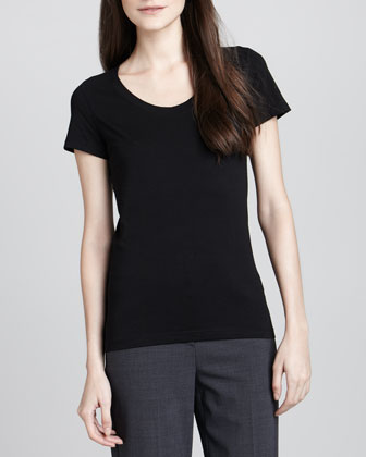 Juin 2 Short-Sleeve Tee, Black
