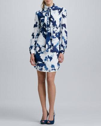 Jabow Long-Sleeve Printed Dress