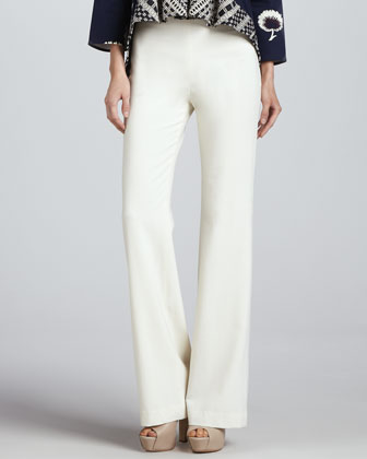 Punta Cana Smooth-Front Sateen Pants