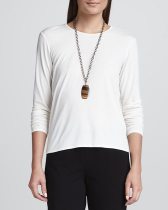 Silk Jersey Long-Sleeve Tee