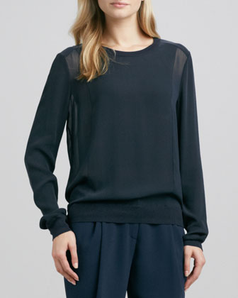 Sheer-Side-Panel Top, Coastal