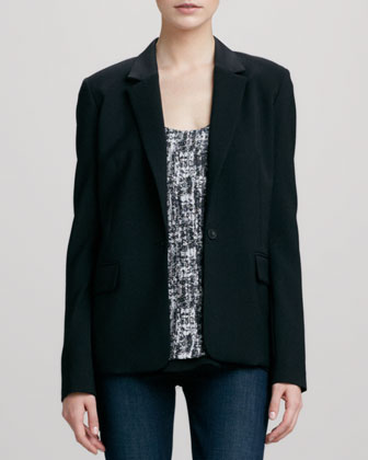 Tailored Blazer, Black
