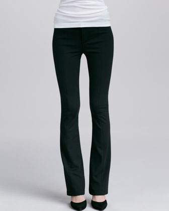 Boot-Cut Ponte Leggings, Black