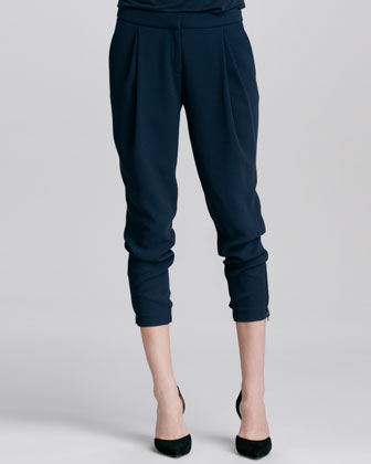 Stretch Wool Harem Pants, Coastal