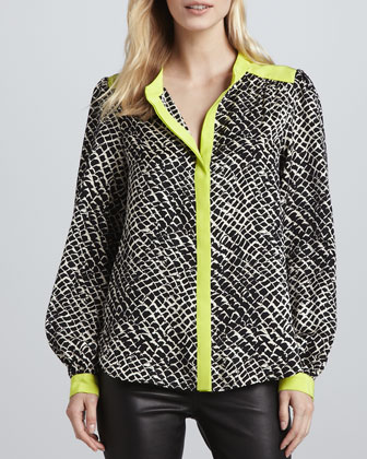 Stevie Snake-Print Blouse