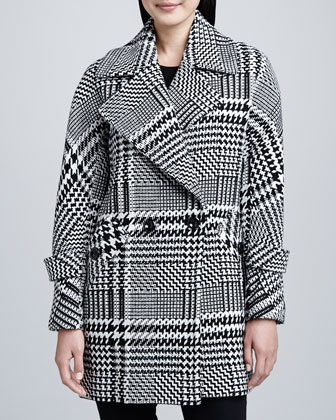 Nancy Menswear Wool Check Coat