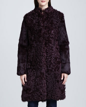 Rodeo Drive Curly Lamb Fur Coat