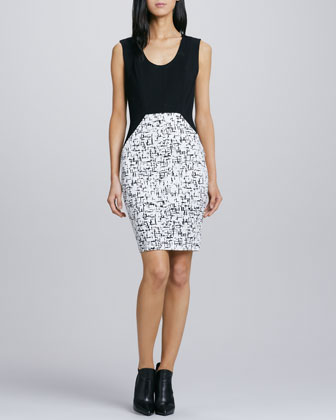 Two-Tone Combo Dress