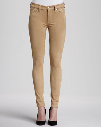 The Sueded Skinny Jeans, Sueded Camel