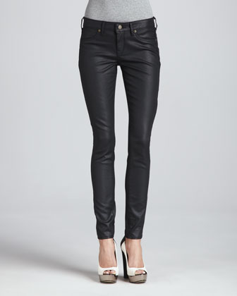 The Legacy Skinny Jeans, Coated Black