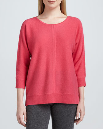 Cashmere Stitch-Front Sweater