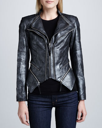Moto Leather Double-Zip Jacket