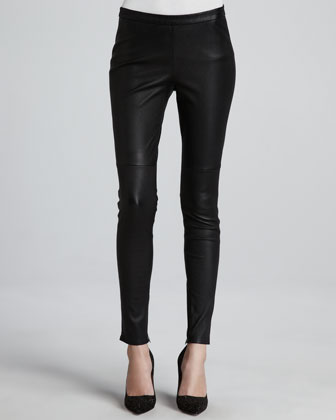 Alvarine Stretch Leather Leggings