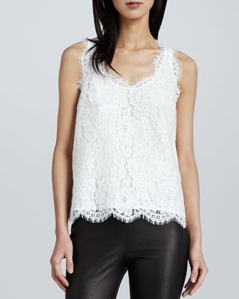 Cina V-Neck Lace Tank Top