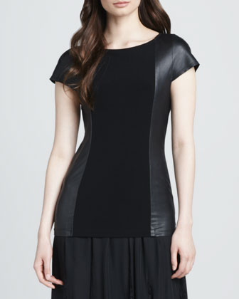 Kay Leather-Side Stretch Tee