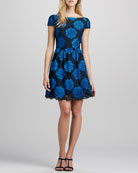 Nelly V-Back Jacquard Dress
