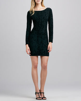 Tabitha Fitted Velvet Dress