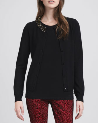 Strayer Bead-Neck Cardigan