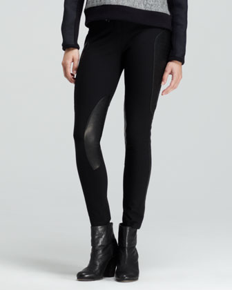 Ilford Paneled Leather Skinny Pants