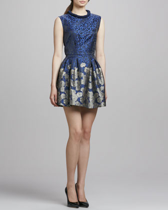 Printed Fit-&-Flare Cocktail Dress