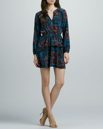 Tuffa Printed Silk Dress