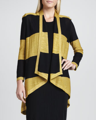 Tiffany Striped High-Low Cardigan